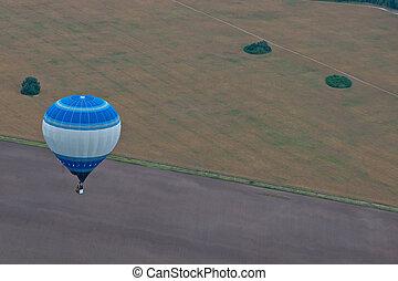 Flight on baloon