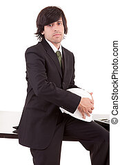 Business man posing at office