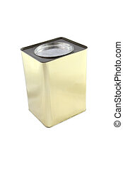 Top of rectangular can on white background.