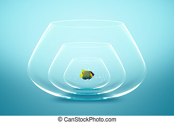 fish bowl - Angelfish live in small bowl, Good Concept for A...