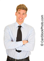 businessman with arms crossed