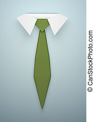 Tie - Illustration of a white-collar and tie