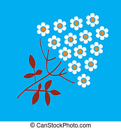 Inflorescence - Vector abstract image Branch with small...