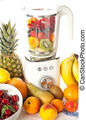 Smoothie blender - Blender surrounded by all kinds of summer...