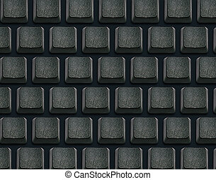 Keyboard with blank buttons
