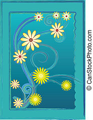 brushed border with flowers