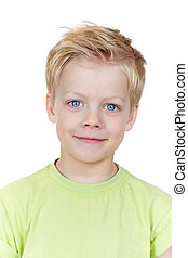 Cute lad - Close-up portrait of adorable blue-eyed boy