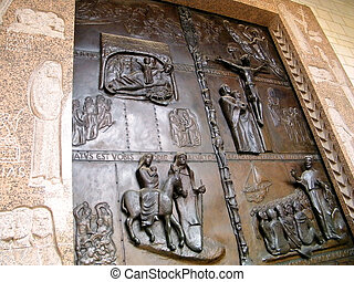 Nazareth Basilica Door 2010 - Door of Basilica of the...