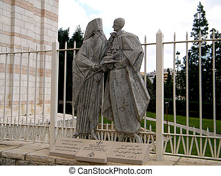 "Nazareth Basilica Pope Paul VI 2010 - Sculpture ""The..."