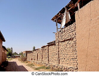 Uzbekistan Mayskiy Adobe house in village 2007 - Adobe house...
