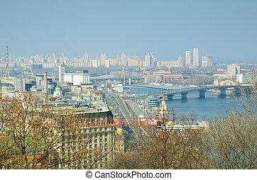 Spring view of Kiev.