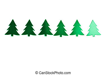 holiday green christmas trees isolated