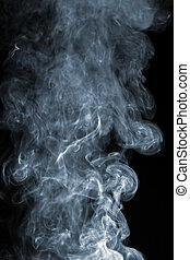 abstract smoke over black background