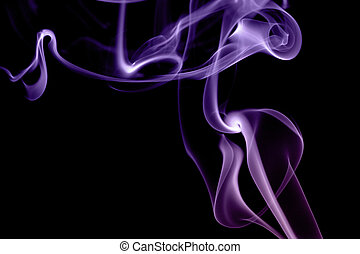 abstract violet smoke isolated