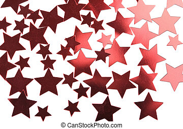 holiday red stars background isolated