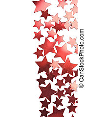 holiday red stars frame isolated