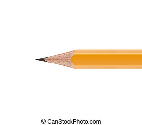 Sharpened Yellow pencil isolated on white background.