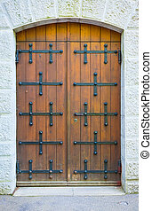 Old Brown Door