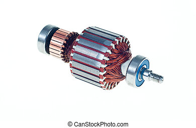 electric motor - Electric motor rotor isolated white...