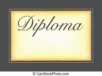 A model for the diploma, certificat