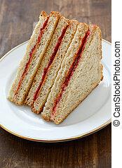 peanut butter & jelly sandwich - american favorite foos