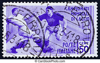 Postage stamp Italy 1934 Soccer Players - ITALY - CIRCA...
