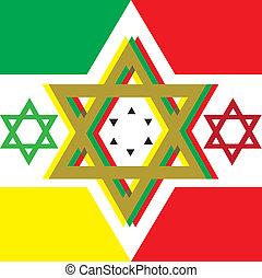 A artwork of david star - A reggae artwork with the david...