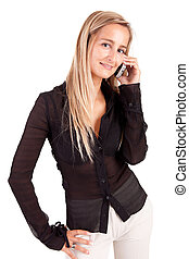 Business woman at the phone