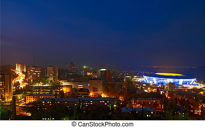 night donetsk - city of Donetsk in the night