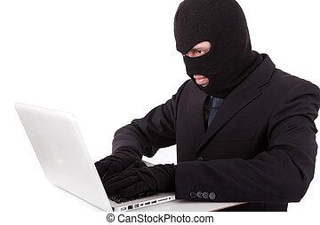 Hacker - Computer hacker in suit and tie