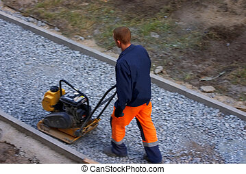 a worker with a mechanism makes even a path