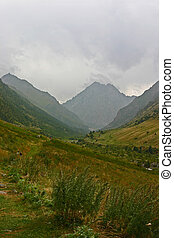 mountain locality in the north of Kyrgyzstan