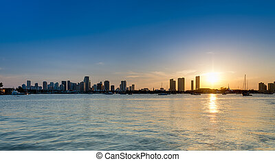 Downton Miami Sunset