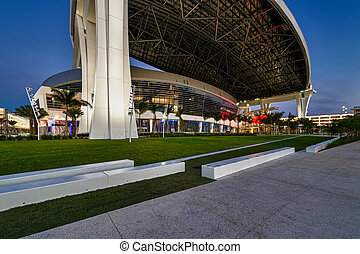 Marlins Park Stadium - MIAMI, FL - APRIL 9: View of the new...