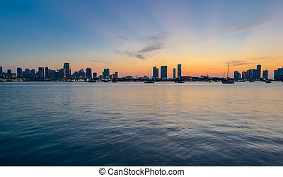 Miami Panorama at Sunset