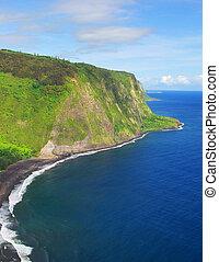 Valley Overlook in Hawaii - A view of Waipio Valley in...
