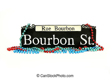 Mardi Gras - Bourbon Street Sign