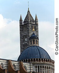 The Duomo of Siena, which was built in the 12th and 13th...