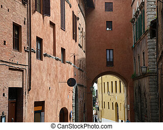 Siena - the medieval climate and characteristic colours