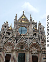 Siena - Duomo .The western facade