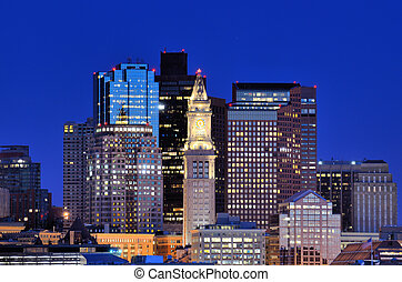 Boston Skyline - Financial District of Boston, Massachusetts
