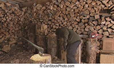 Woodshed Accident with an Axe 4 - Careless or clumsy...