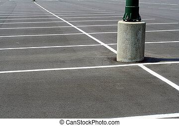 Empty Parking Lot - Parking lot with no cars
