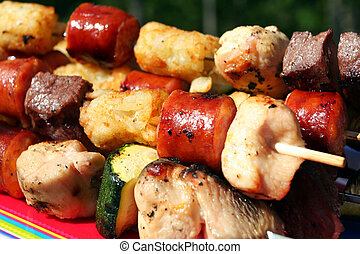 Kabobs On The Grill - Shish Kabobs