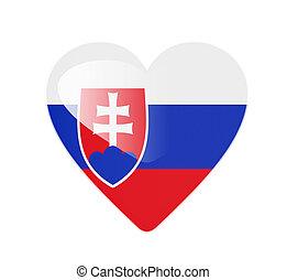 Slovakia 3D heart shaped flag