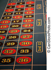 Casino Roulette Table - Roulette table at a casino in Las...
