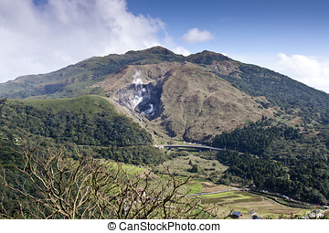 mountains in Taiwan - summer scenic of YangMing National...