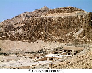 Hatsheput Temple, Luxor, Egypt - Temple of the Hatsheput,...
