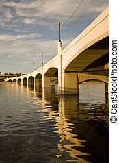 Tempe Mill Avenue Bridge - Mill Avenue Bridge over the Salt...