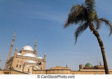 egypt, cairo. mohammed ali mosque. outside. - egypt, cairo....